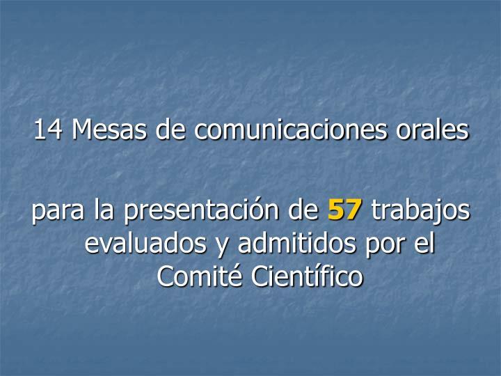 14 Mesas de comunicaciones orales