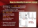 how to identify b meson signal