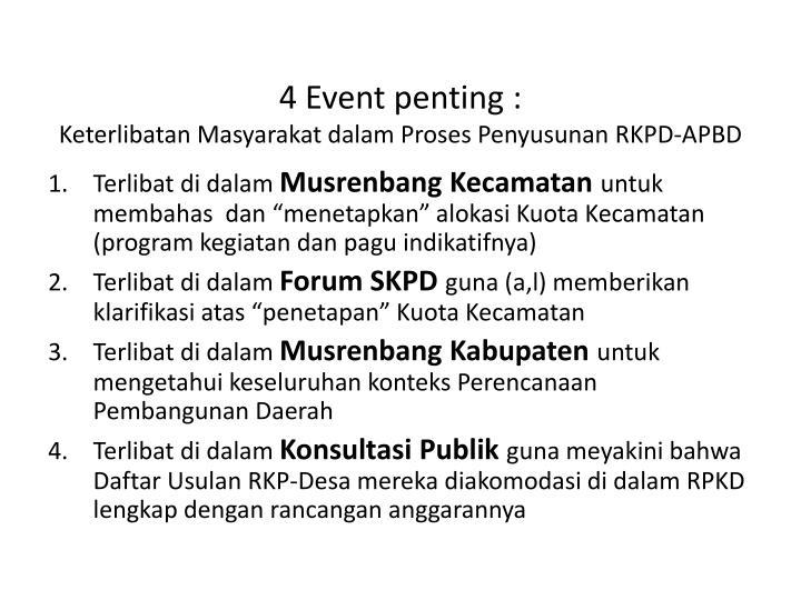 4 Event