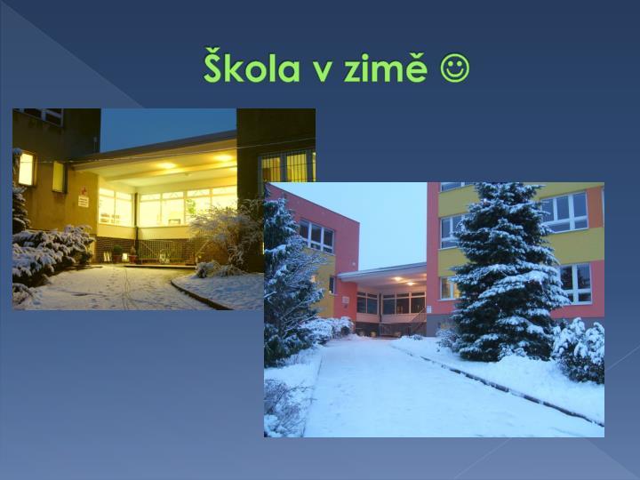Škola v zimě