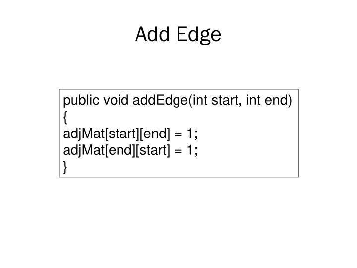 Add Edge