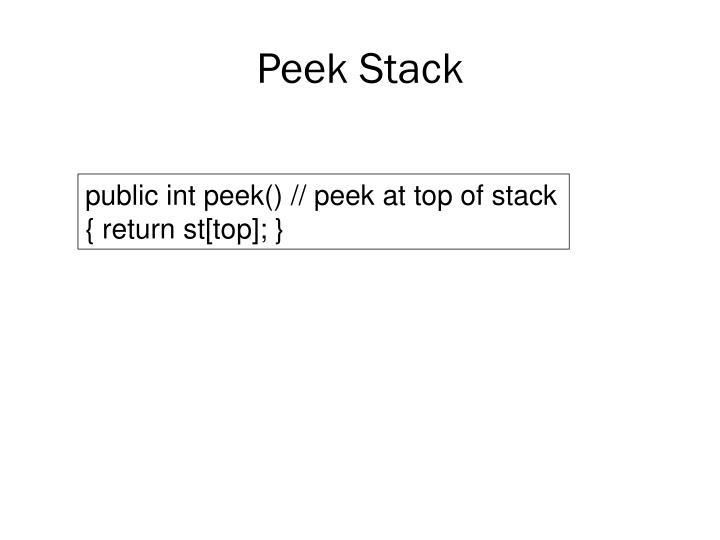 Peek Stack