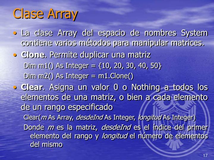 Clase Array