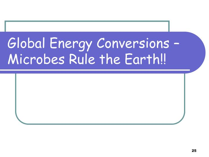Global Energy Conversions –