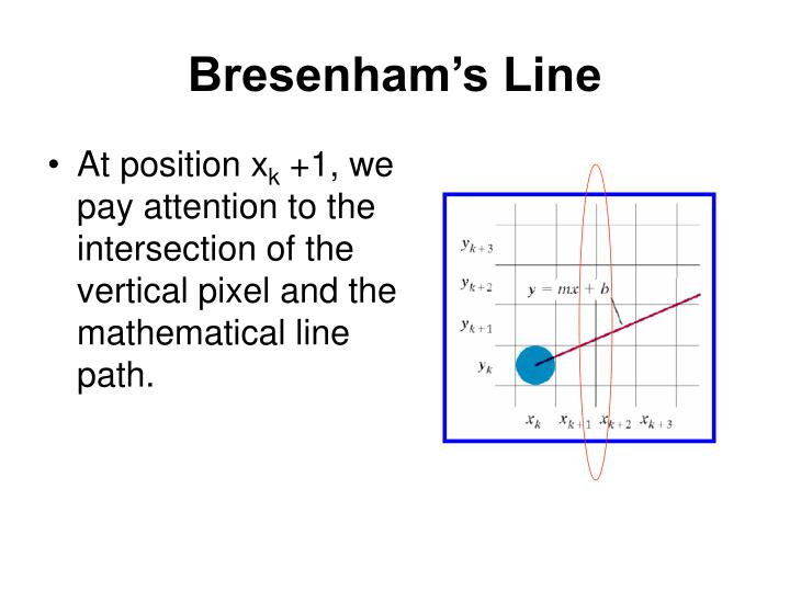 Bresenham Line Drawing Algorithm For Positive Slope : Ppt graphics output primitives powerpoint presentation