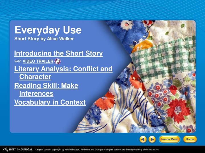essay on short story everyday use