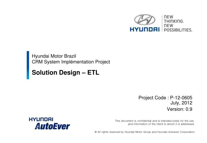 Hyundai motor brazil crm system impl mentation project