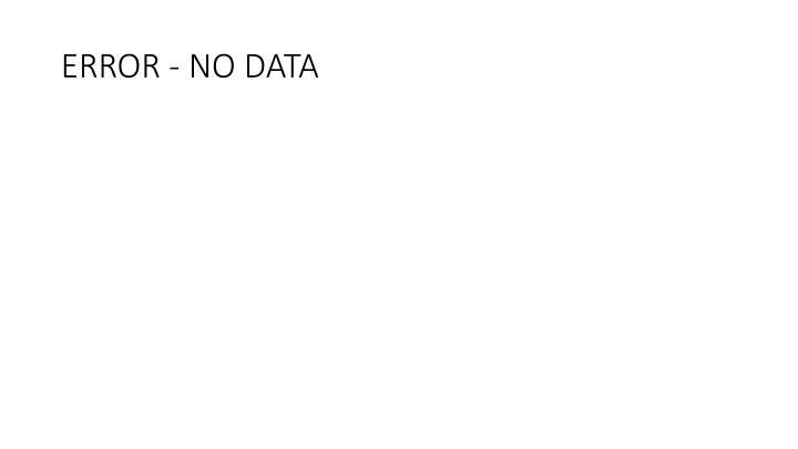 Error no data