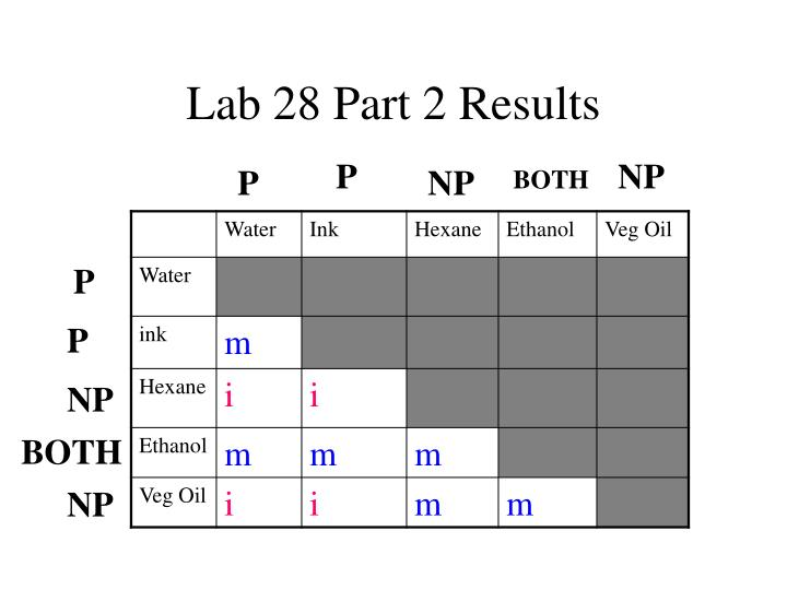 Lab 28 Part 2 Results