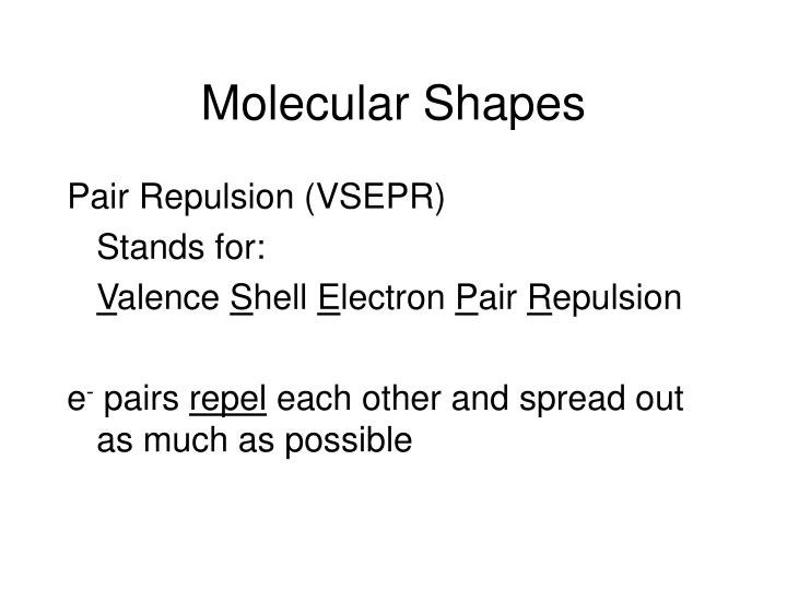 Molecular Shapes