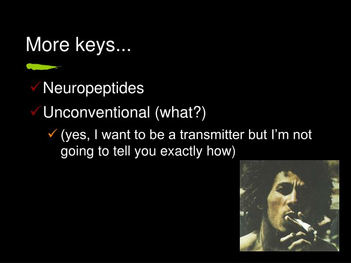 More keys...