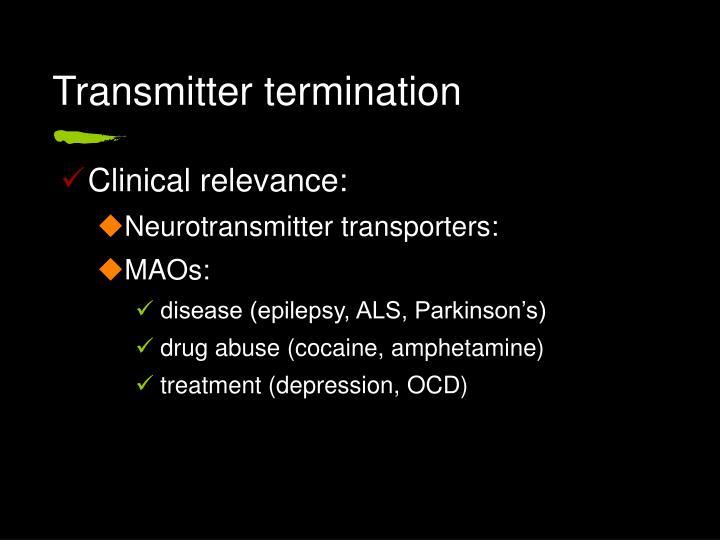 Transmitter termination