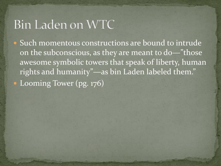 Bin Laden on WTC