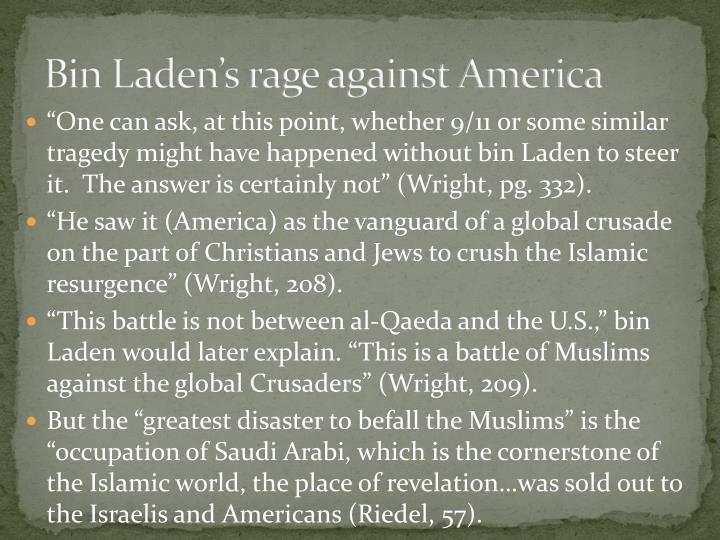 Bin Laden's rage against America