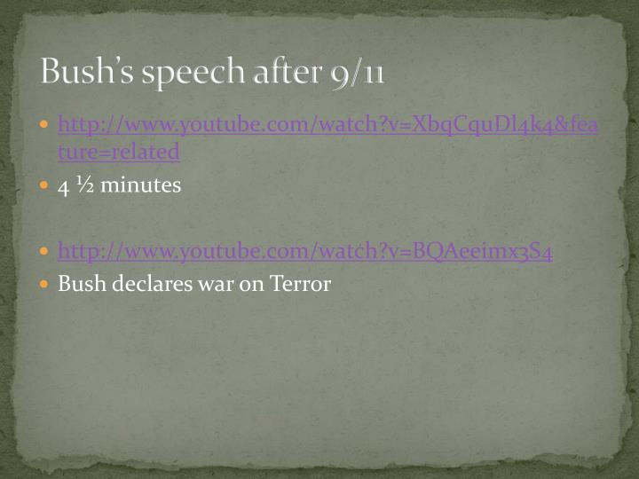 Bush's speech after 9/11