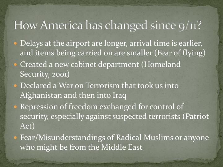 How America has changed since 9/11?