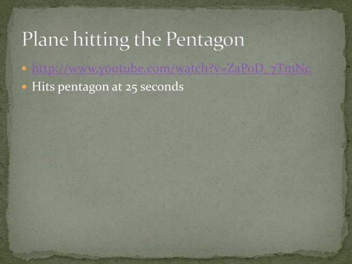 Plane hitting the Pentagon