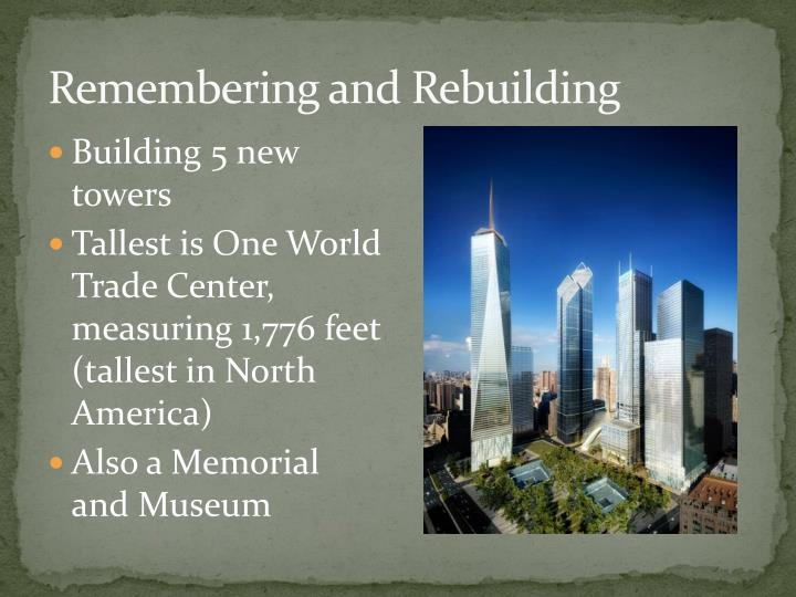 Remembering and Rebuilding