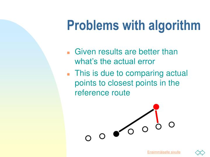 Problems with algorithm
