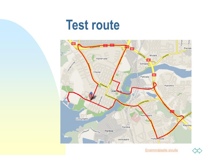 Test route