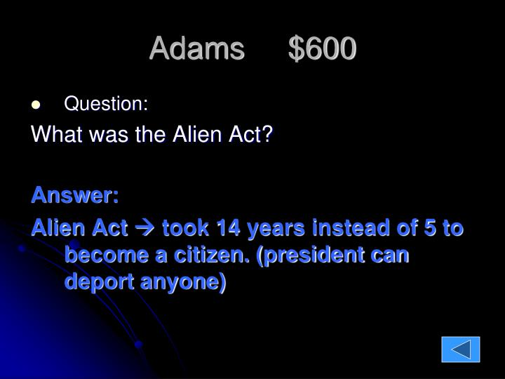 Adams     $600