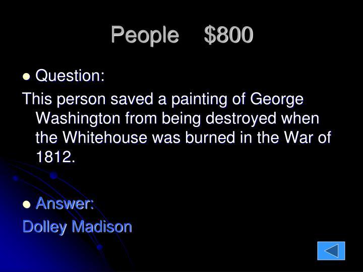 People    $800