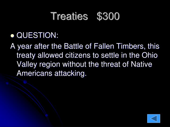 Treaties   $300