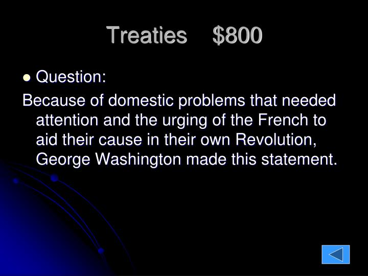 Treaties    $800