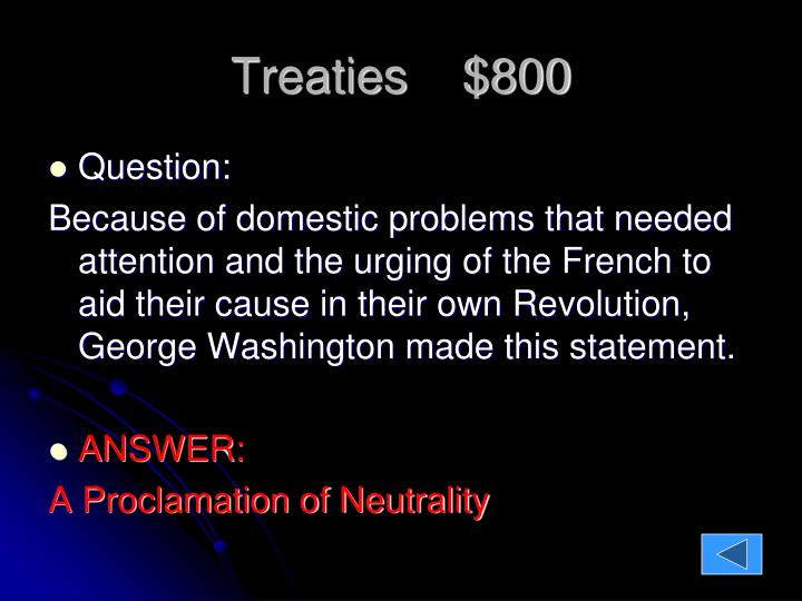 Treaties    $800