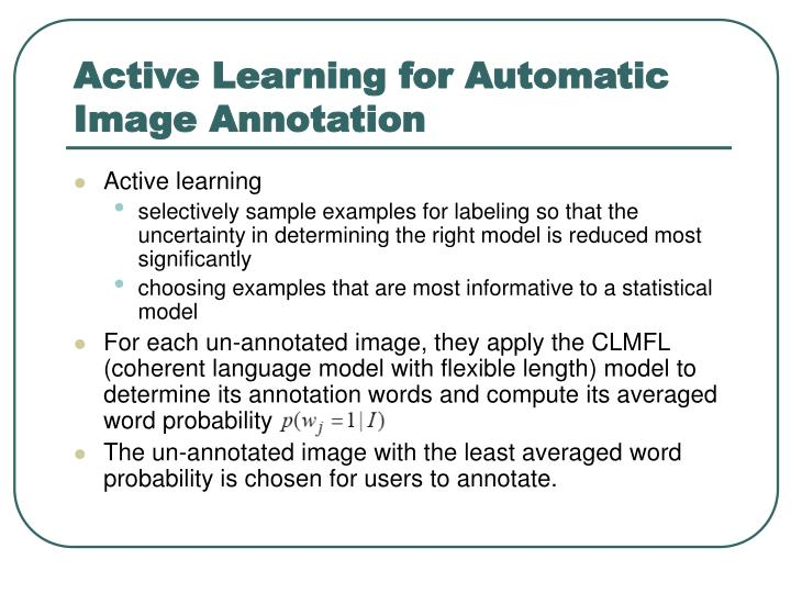 Active Learning for Automatic Image Annotation