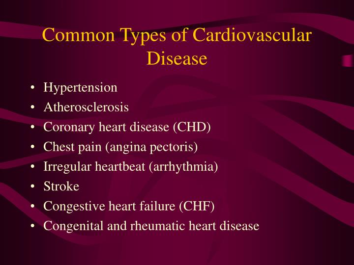 Common Types of Cardiovascular Disease