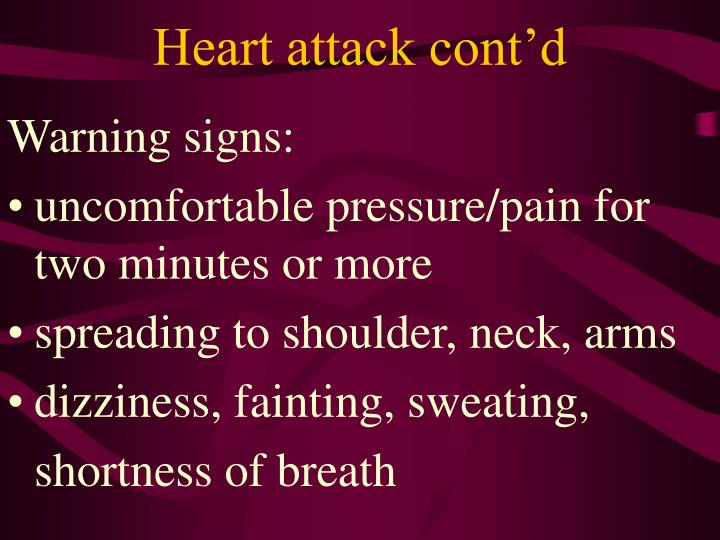 Heart attack cont'd