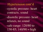hypertension cont d
