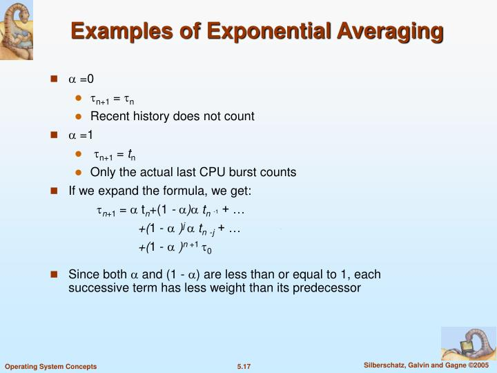 Examples of Exponential Averaging