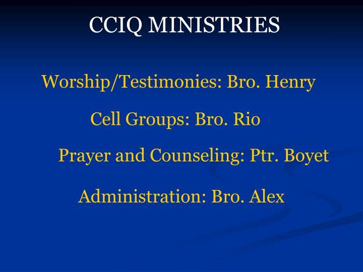 CCIQ MINISTRIES