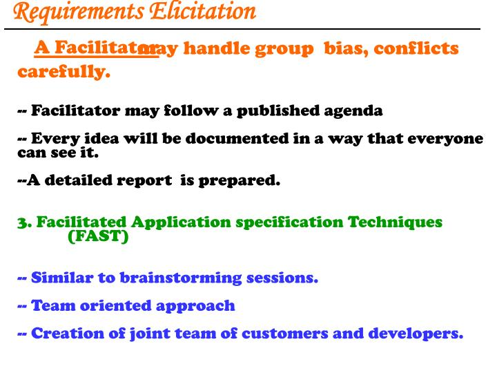 Requirements Elicitation