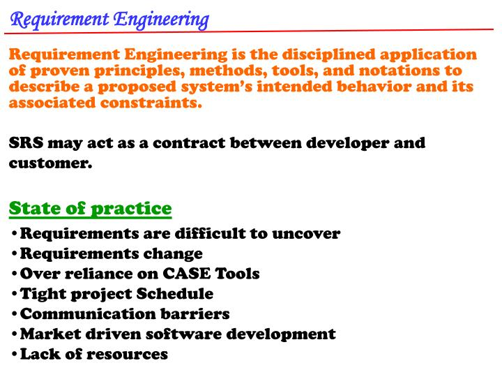 Requirement Engineering