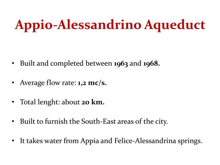 Appio-Alessandrino Aqueduct