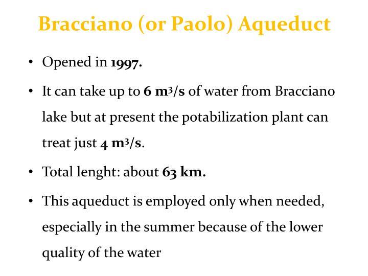 Bracciano (or Paolo) Aqueduct