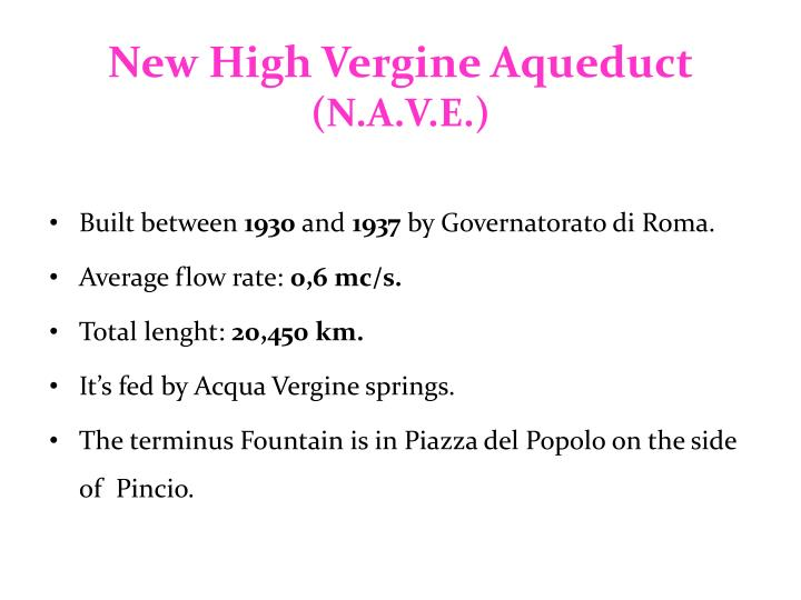 New High Vergine