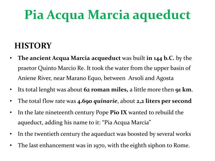 Pia Acqua Marcia aqueduct