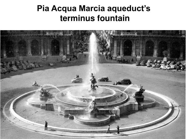 Pia Acqua Marcia aqueduct's