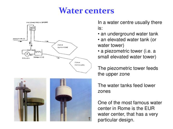 Water centers