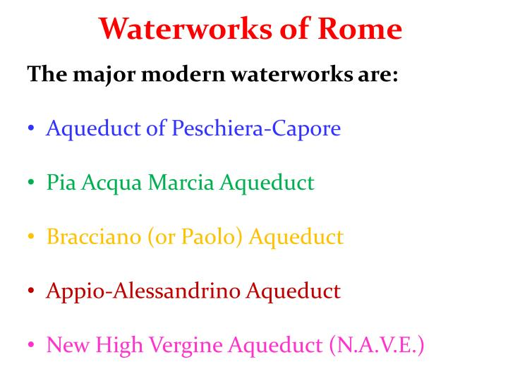 Waterworks of Rome