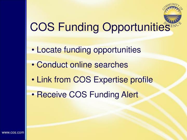 COS Funding Opportunities
