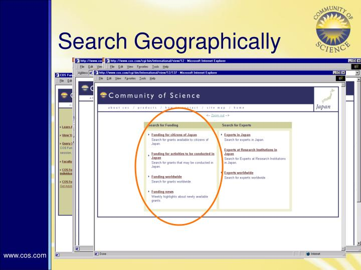 Search Geographically