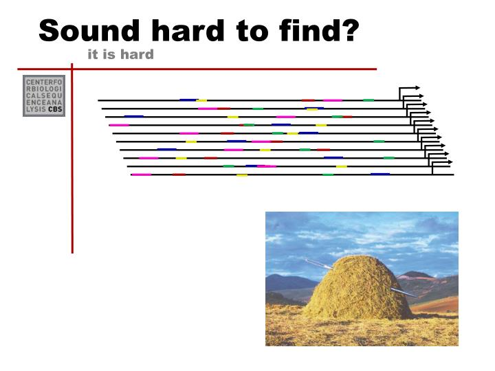 Sound hard to find?