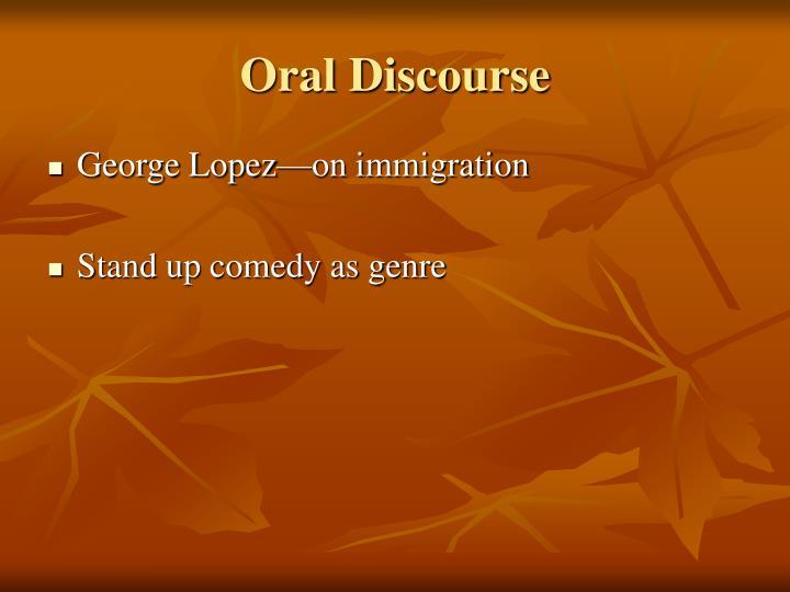 Oral Discourse