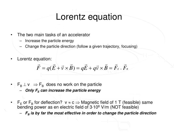 Lorentz equation