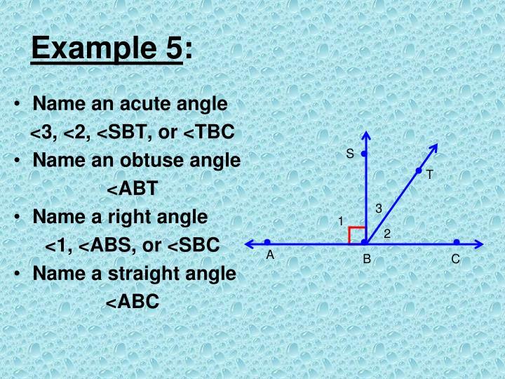 Name an acute angle